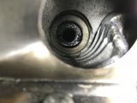 Cross threaded spark plug recess No.2 cylinder