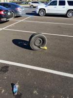 Vanagon wheel in parking lot