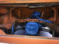 74 Bus engine bay prep and repaint