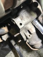 Broken bolt for 1.9 liter coolant Pipe