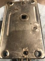 Back of cargo door latch