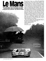 LeMans movie article Motor Trend June 1971
