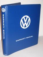 Volkswagen Warranty Manual Binder