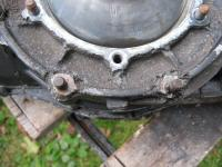 Corroded transmission case