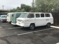 65 Westy next to corvair