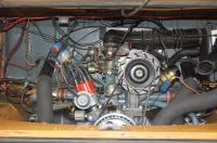 71 bus engine bay
