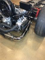 "A1 2"" step merged exhaust polished to black chrome"