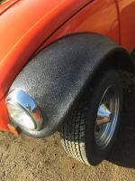 Bedliner painter fenders on 1967 baja