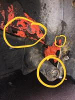 Rear cross member rust?  where is the water coming from.?