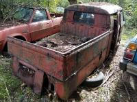 63 double cab pulled out of woods