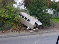Crashed Bus At The Pomona California Car Show & Swap Meet