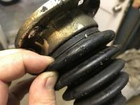 Cracked CV Joint Boot