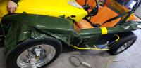 Vinyl Wrapping Dune Buggy