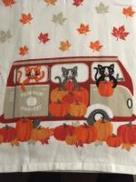 Halloween towel with cats