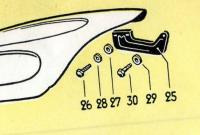 57 Bug Parts Manual - Hood Hinge