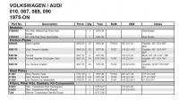 VW 010 transmission parts with Audi