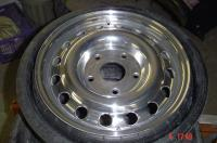 polished mine alu porsche 911 spare tyre.