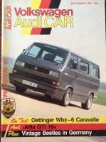 Volkswagen Audi Car Magazine September 1987