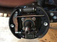 parking brake cable adjustment issue -- after brake shoe upper metal trimming