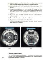VW brake adjustment