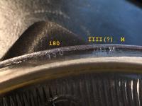 Bosch (script) headlight glass, symmetrical, numbers