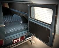 Inside van with flat motor