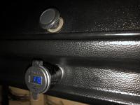 Silver Socket USB Charger Voltmeter