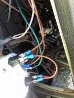 VDO tachometer instal in a late bay