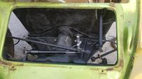 Under hood front of pan