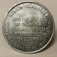 Tokens; Volkswagen Dealers of the New Orleans Area
