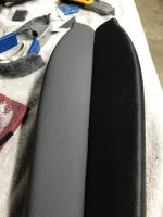 Repaired early Type 3 armrest in grey.