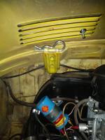 1971 Super Beetle - hood pins.