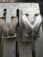 Autocraft manifold before and after Welding