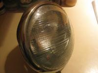 OLD BUS (?) HEADLIGHT GLASS BUCKET UNIT