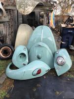 Original paint turquoise beetle parts