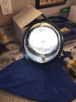 1961 black chrome headlight with vintage Led bulb