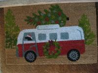 Holiday VW Bus door mat