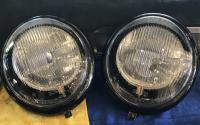 1961 bug black chrome headlight buckets with Led