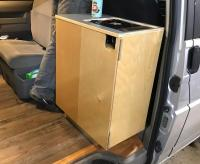 Removable kitchen cabinet for Eurovan - jumpseat replacement