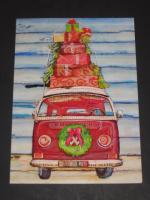 VW Volkswagen Bus Christmas Card