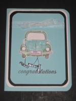 VW Volkswagen Beetle Bug Wedding Card