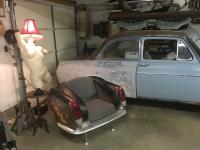 Ghia chair and  girl garage light