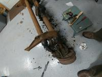 cleaning front axle beam