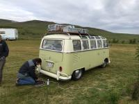 Sighting in Iceland of Swiss bus