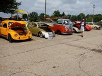 75,63 Beetles and the 67 SC and on the opposite end 69 Convertible at COVVC show this year