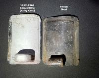 Beetle Convertible Front Heater Vent Slide Doors