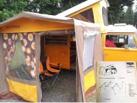 Documentation to back up an old story. 1977 Westfalia Tent.