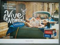 Cigarette ad billboard  in Germany