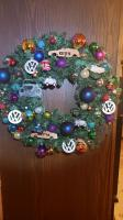 VW themed holiday wreath