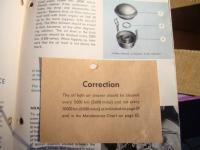 January 1954 Beetle owners manual correction